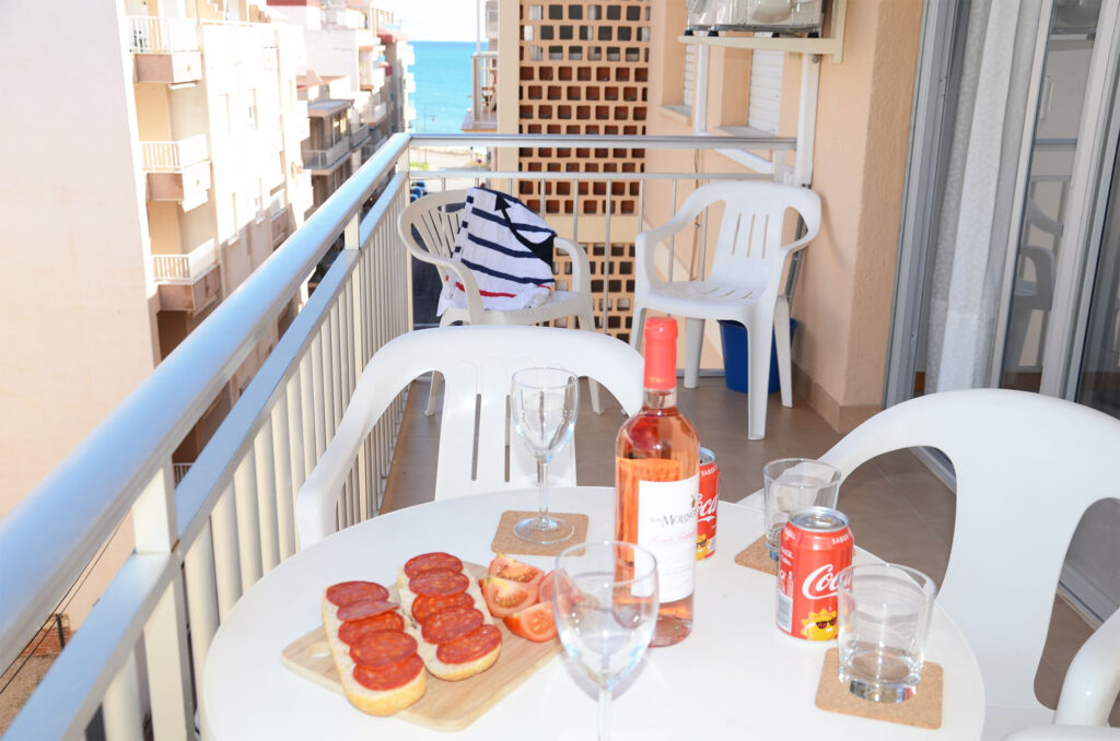Balcony with view of the Mediterranean