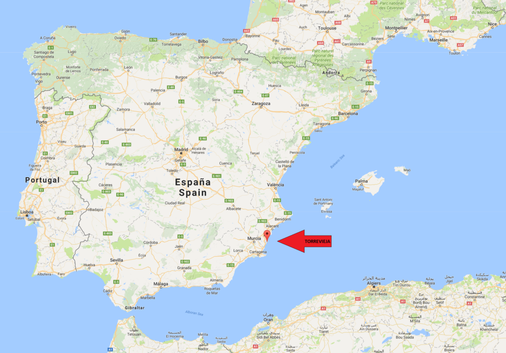 location of torrevieja google maps